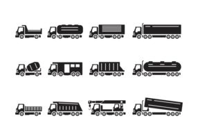 Camion Silhouettes Vector