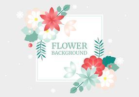 Carte de printemps Fleur de vecteur de voeux gratuit
