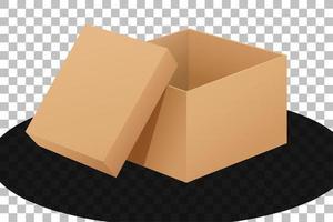 boîte en carton ouverte isolée