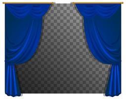 rideaux bleus isolés
