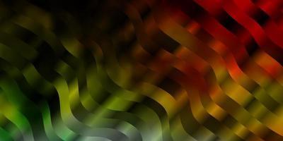 motif rouge et vert avec des lignes ironiques.
