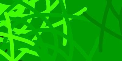 fond vert avec des formes chaotiques.