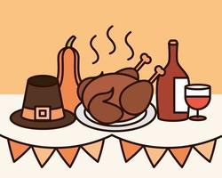 composition de célébration du jour de Thanksgiving