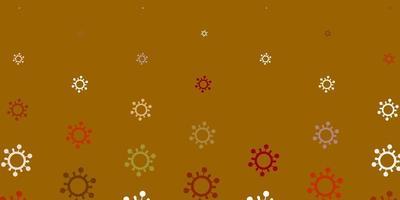 texture rouge, brune et blanche avec des symboles de la maladie.