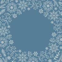 fond de Noël avec des flocons de neige de Noël vecteur