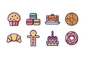 Boulangerie Icon Set vecteur