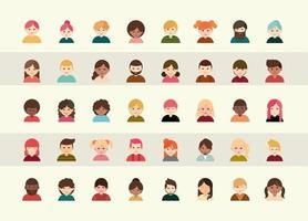 ensemble d & # 39; icônes d & # 39; avatar de personnes diverses