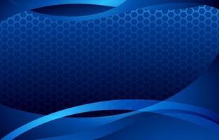 fond bleu abstrait avec des courbes ondulées vecteur