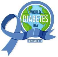 affiche de la journée mondiale du diabète