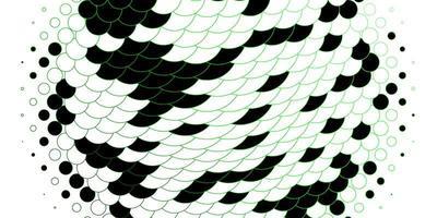 modèle avec des cercles soulignés de vert.