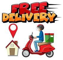 logo de livraison gratuite avec courrier