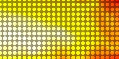 fond jaune et rouge avec des cercles.