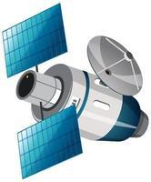 satellite isolé sur fond blanc