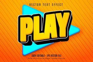 jouer du texte, effet de texte modifiable de style de jeu de dessin animé