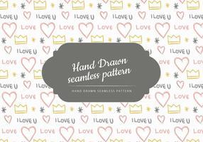 Motif sans couture Vector Hand Drawn