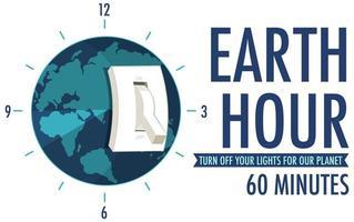 affiche de la campagne heure de la terre