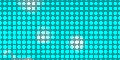 mise en page bleue avec des cercles.