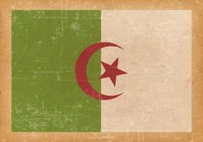 Drapeau de l'Algérie sur fond grunge Vieux vecteur
