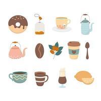 jeu d & # 39; icônes de café et de thé