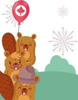 castors canadiens pour la célébration de la fête du canada