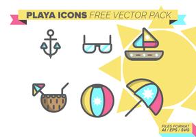Playa Icons Pack gratuit vecteur