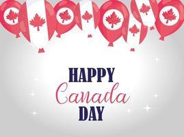 bonne bannière de fête du canada