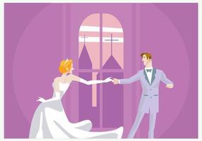 Couple mariage danse vecteur