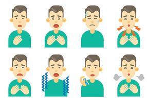 Gratuit vecteur icônes asthme