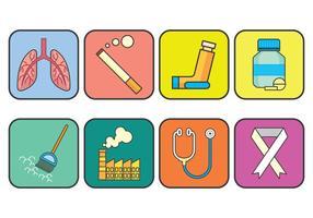 Asthme vecteur icônes