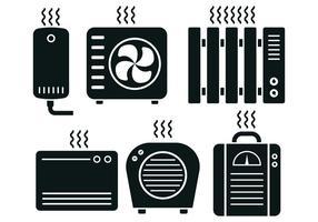 Chauffage Icon Set Vector