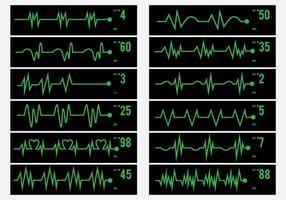 Activité électrique Icône d'impulsion humaine vecteur