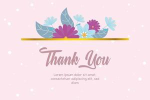 élégante carte de remerciement floral