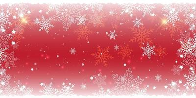 conception de bannière rouge flocon de neige de noël