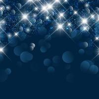 fond de noël avec des lumières bokeh et des étoiles