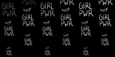 fond gris foncé avec des symboles de femmes.