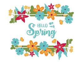 bonjour bannière de célébration du printemps