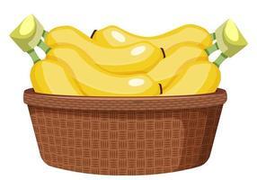 bananes dans un panier vecteur