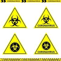collection de signes de danger de coronavirus vecteur