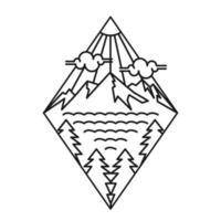 conception de paysage de montagne simple vecteur