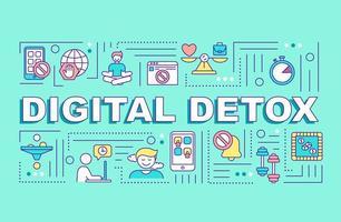 bannière de concepts de désintoxication numérique vecteur