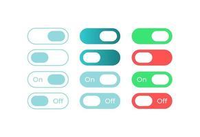 commutateurs colorés, kit d'éléments d'interface utilisateur
