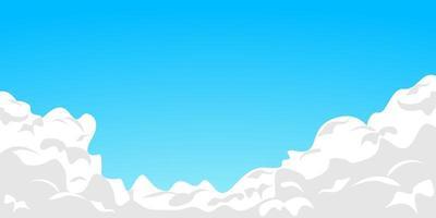 ciel bleu avec des nuages blancs vecteur