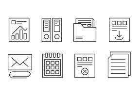 Bureau libre et icônes Web vecteur