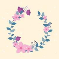 composition de couronne florale