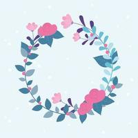 composition de couronne florale vecteur