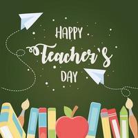 bonne fête des enseignants vecteur