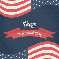 drapeau américain pour la célébration du jour du souvenir vecteur