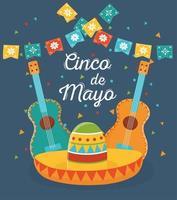 éléments mexicains pour la célébration du cinco de mayo