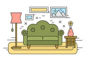 Illustration Living Room gratuit vecteur