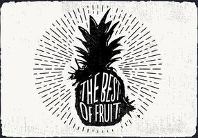 Contexte main libre d'ananas Drawn vecteur